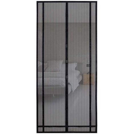 Sekey 220x100cm Magnetvorhang zum Insektenschutz, idealer magnetischer Fliegengitter für Balkontür, Kellertür, Terrassentür (zuschneidbar in Höhe und Breite) durch kinderleichte Klebemontage