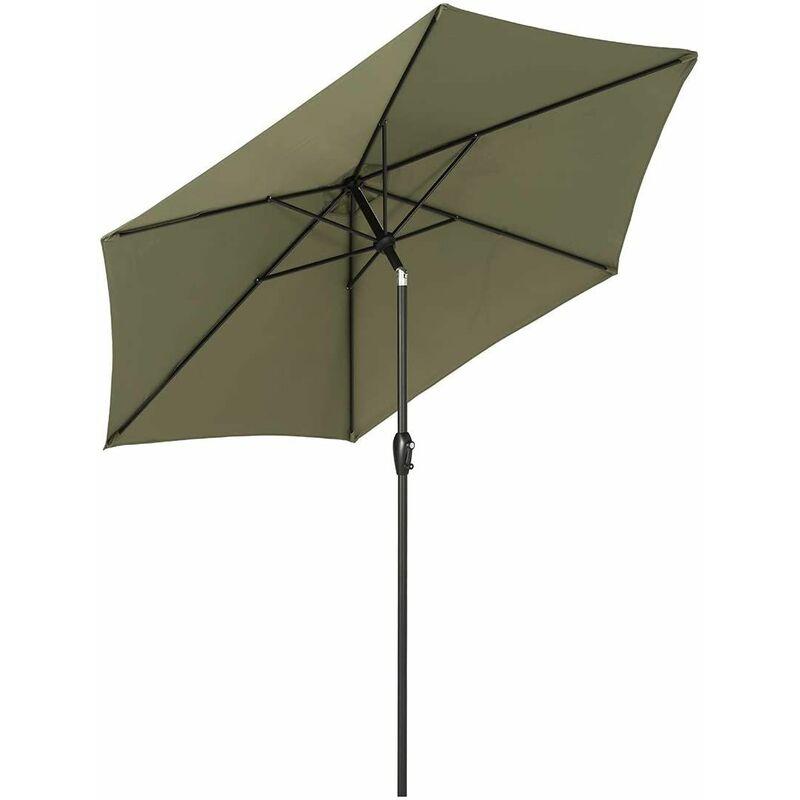 Ø 270 cm Parasol UV50 +, Vert Olive - Sekey