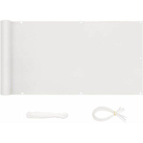 Sekey Brise-Vue pour balcon PES 120 x 600cm, Blanc