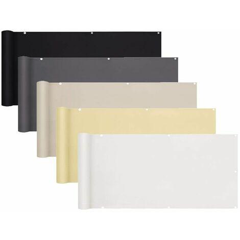Sekey Brise-Vue pour balcon PES 75 x 500cm, Blanc