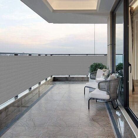 Brise-Vue renforcé HDPE 220 g/m², Attaches de câble et Cordons, Gris 1.2 x 5 m