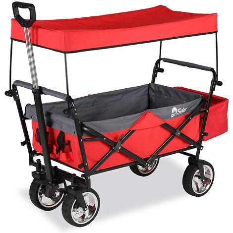 Sekey Charrette de Transport Pliable Chariot de Transport Jardin Chariot
