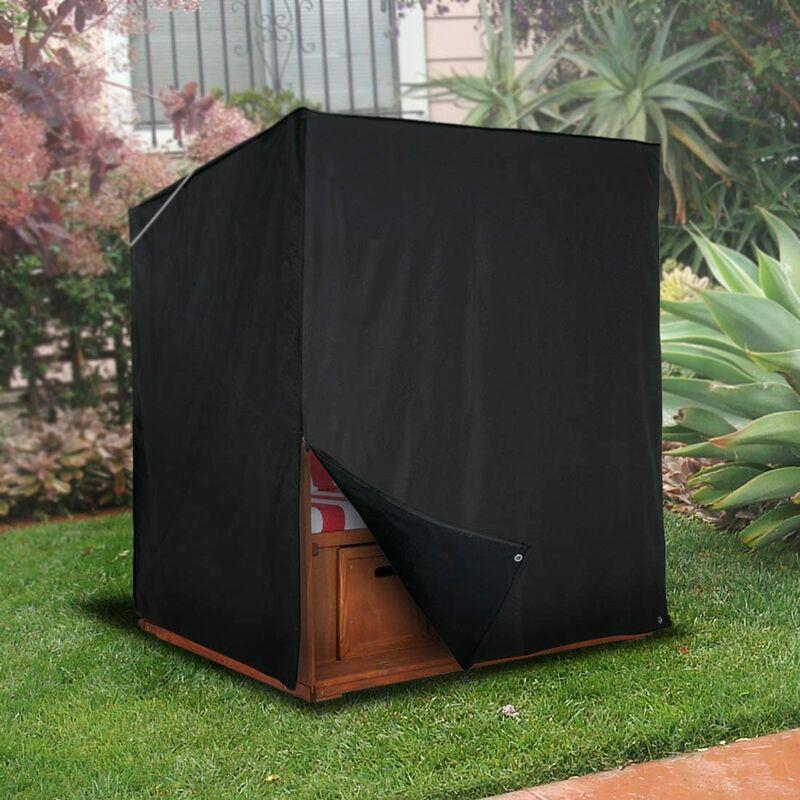 Sekey - Housse de Protection Corbeille de Plage de Jardin-Fauteuil-Cabine 600D Oxford 175/140 x 135 x 105 cm