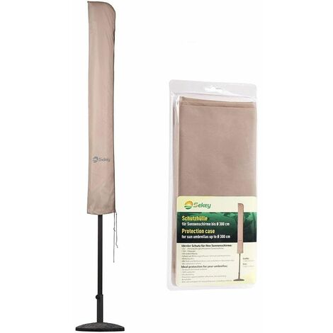 Sekey Housse de Protection pour Parasol-100% Polyester-Traupe
