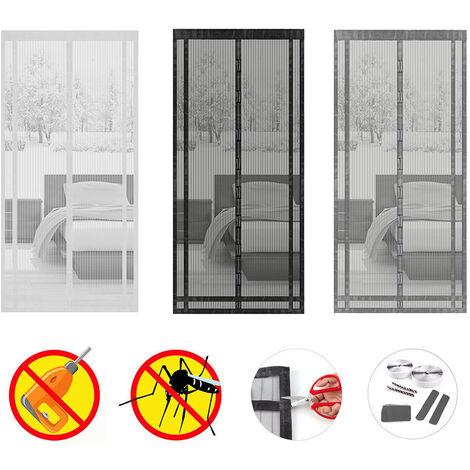 Sekey Magnet Fliegengitter Tür Insektenschutz Kürzbarer Fliegenvorhang, Kinderleichte Klebemontage ohne Bohren