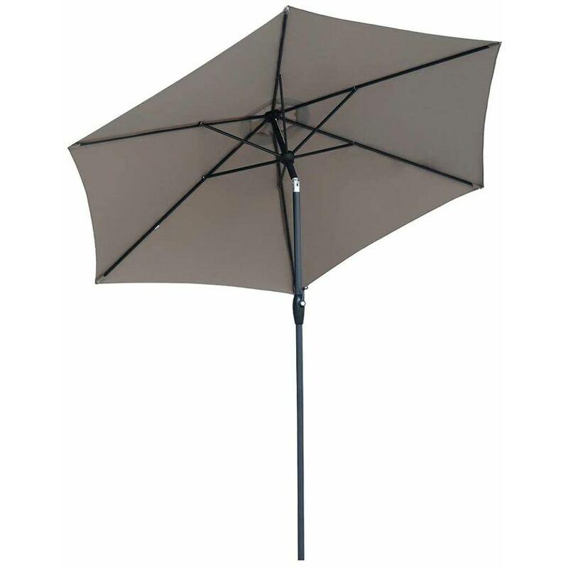 Sekey Ø 270 cm Parasol inclinable Rond UV50+, Brun