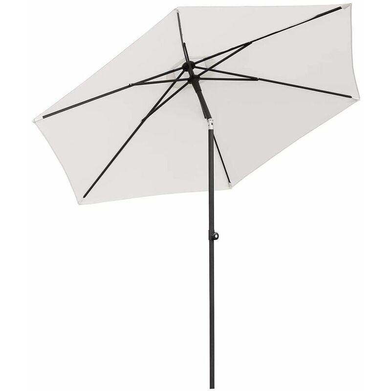 Parasol aluminium Ø 270 cm Parasol de jardin UV50 +, Crème - Sekey