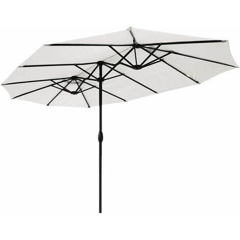 Sekey Parasol de Jardin Double en Aluminium, 270 x 460 cm, Protection Solaire UV50+
