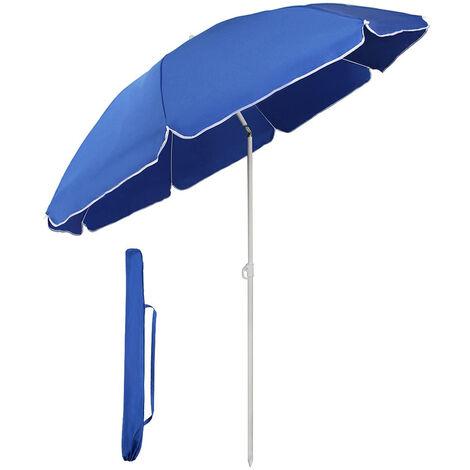 Sekey Parasol de Jardin ou terrasse, diamètre 160 cm, Rond, protection contre UV20+