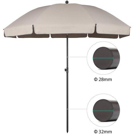 """main image of """"Sekey Parasol de Parasol de terrasse Taupe UV25+ 240 cm"""""""