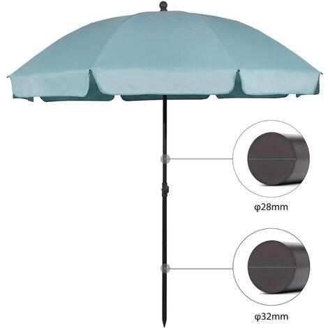 Sekey parasol terrasse Rond Ø 240 cm UV25+, Bleu