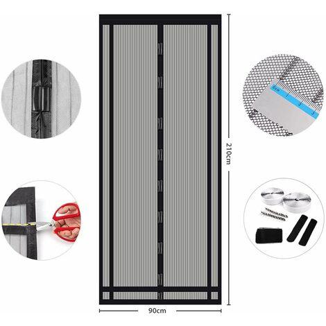 Sekey Rideau magnétique Noir 90x210 cm