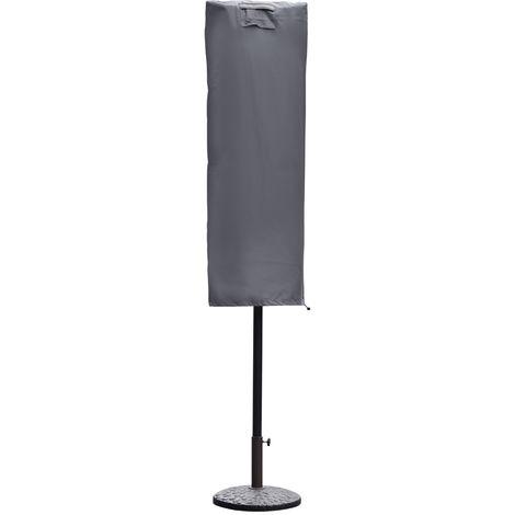 Sekey Sonnenschirm Schutzhülle Abdeckhaube für Sonnenschirm Grau