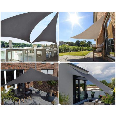 Sekey Sonnensegel Dreieckig HDPE Sonnenschutzsegel Rechteckig mit / ohne Kit