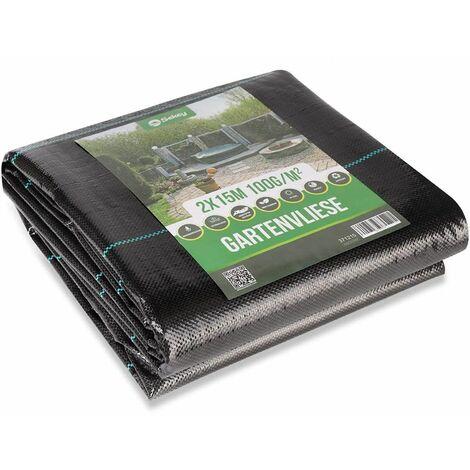 Sekey Toile anti-mauvaises herbes Premium 100g / m²-Résiste rayons UV- perméable à l'eau- Haute stabilisation,Anti-déchirure,Noir