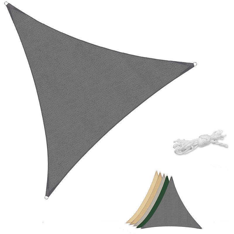 Voile d'ombrage HDPE Perméable Une Protection des Rayons UV, Résistant et Respirant Anthracite 5×5×5m