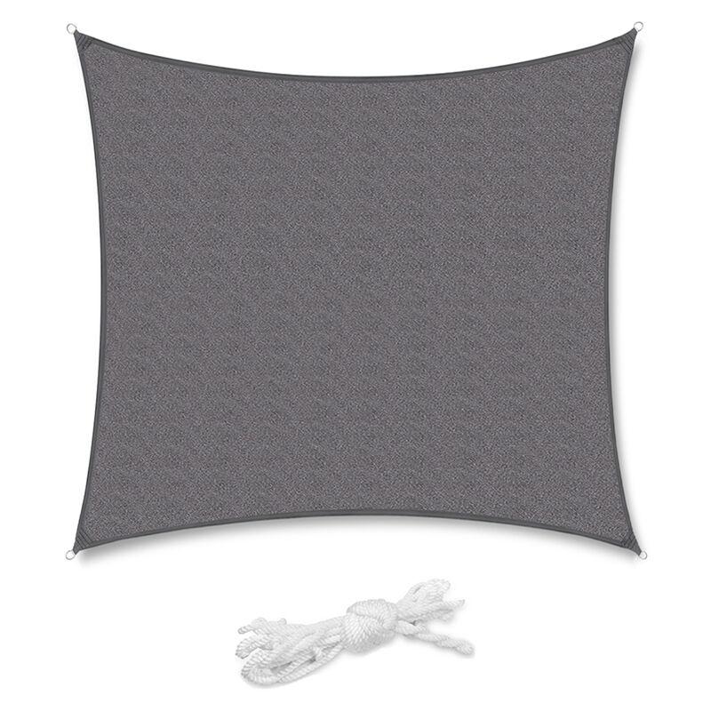 Voile d'ombrage HDPE Perméable Une Protection des Rayons UV, Résistant et Respirant Anthracite 3.6×3.6m