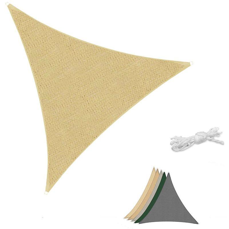 Voile d'ombrage HDPE Perméable Une Protection des Rayons UV, Résistant et Respirant Sable 3×3×3m