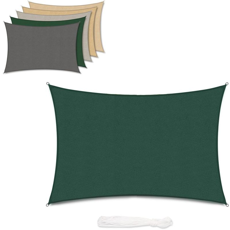 Voile d'ombrage HDPE Perméable Une Protection des Rayons UV Verte 3×4m