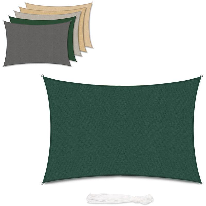 Voile d'ombrage HDPE Perméable Une Protection des Rayons UV Verte 3×5m