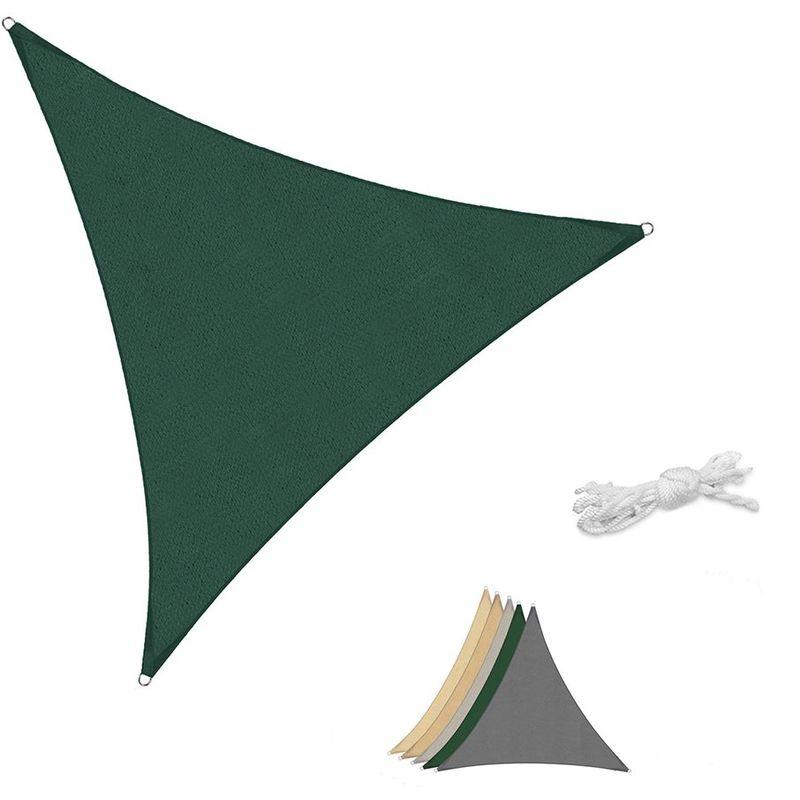 Voile d'ombrage HDPE Perméable Une Protection des Rayons UV Verte 5×5×5m