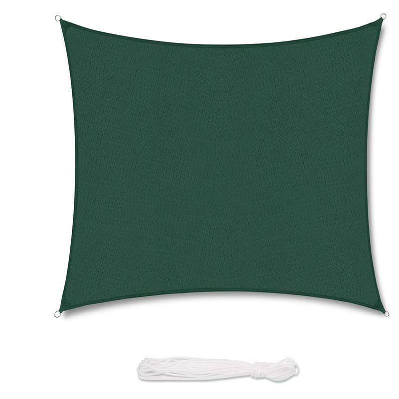 Voile d'ombrage HDPE Perméable Une Protection des Rayons UV Verte 3.6×3.6m