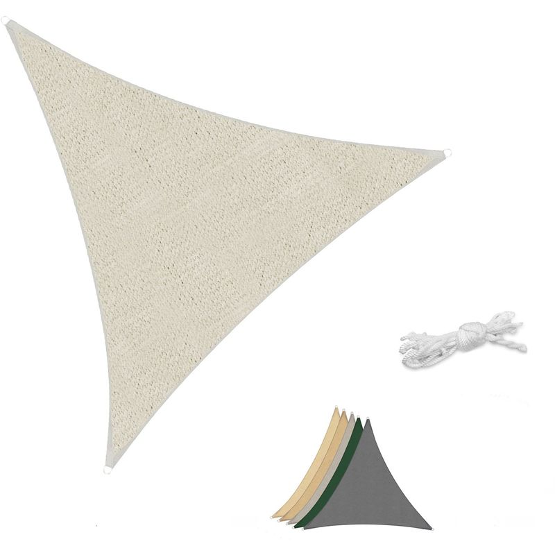 Voile d'ombrage HDPE Perméable Une Protection des Rayons UV Taupe 5×5×5m