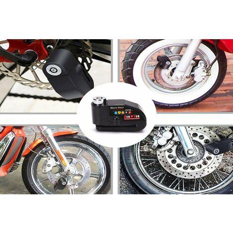 Anykuu Lucchetto Antifurto Moto Bloccadisco Moto Impermeabile con Allarme Sonoro 110DB Reminder Cavetto per Moto Bici e Scooter