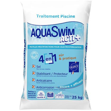 Sel de piscine 4 en 1 Acti+ 25 kg - Aquaswim