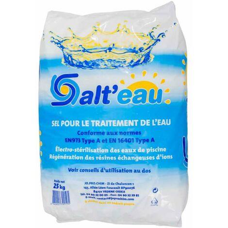 Sel pour traitement de l'eau de piscine sac de 25kg
