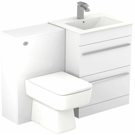 Select 1100mm 2 Drawer Vanity Unit Toilet Suite