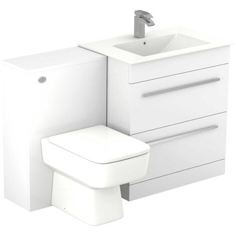 Select 1250mm 2 Drawer Vanity Unit Toilet Suite