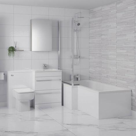 Select II Left Hand Shower Bath Suite