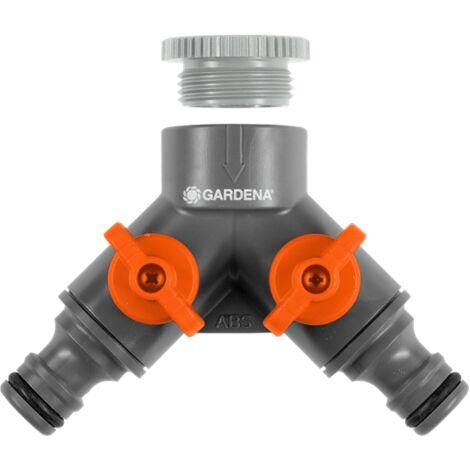 Sélecteur GARDENA 2 circuits d'arrosage - Filetage 33.3mm - 940-26