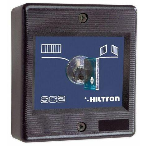 Sélecteur Hiltron à clé montage externe tension 24V 1A SC2