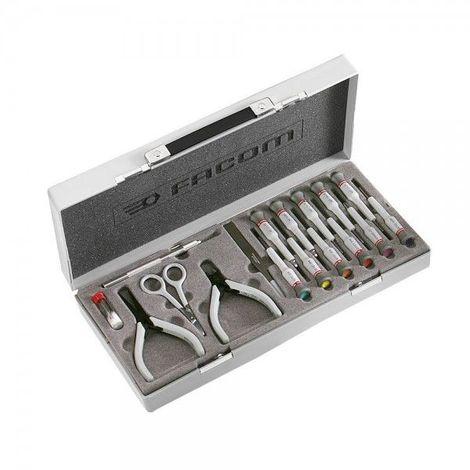 Sélection de 16 outils Micro Tech, ciseau, cutter, tournevis