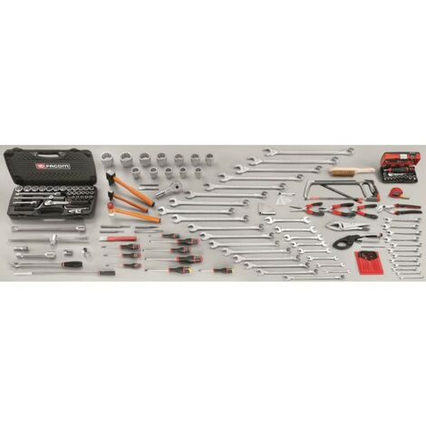"main image of ""Sélection mécanicien TP 150 outils Facom CM.V9"""