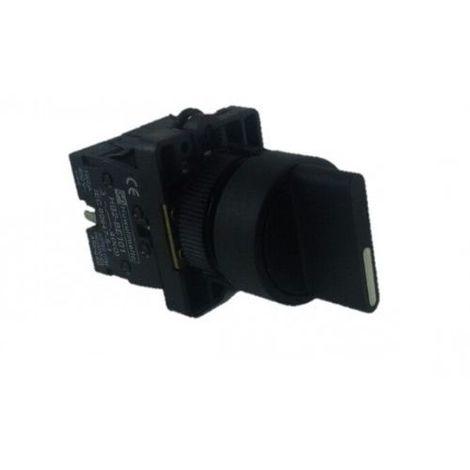 Selector maneta corta plastico 2 posiciones Negro