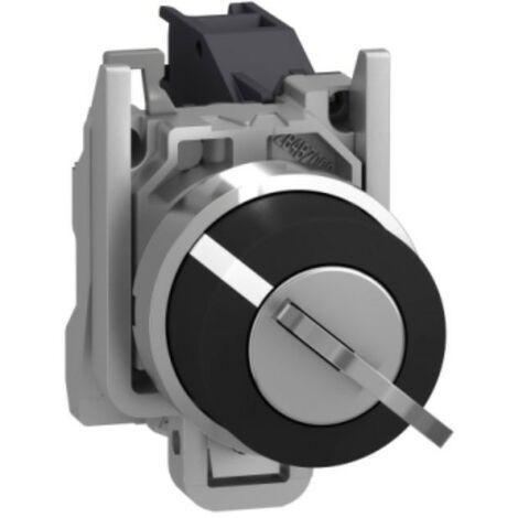 Selettore a Chiave Telemecanique 2 Posizioni nero 2NO XB4BG21