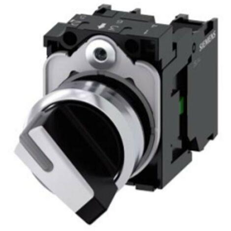 Selettore Siemens illuminabile 22 mm bianco 2 Posizioni 3SU11502BF601MA0