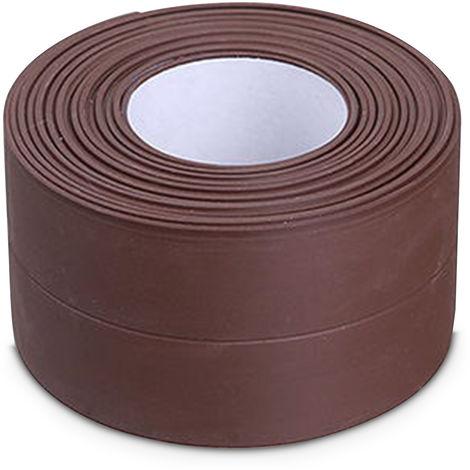 Self-Adhesive Caulking Strip For Kitchen Countertop Bathroom Flooring, Brown