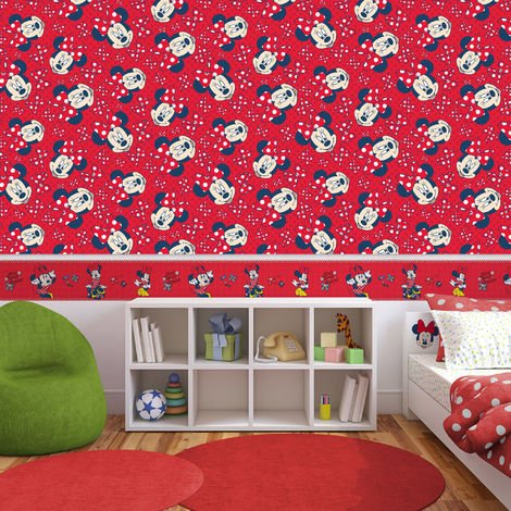 Self-adhesive Disney Minnie Red Bow 5 Meters Wallpaper Border