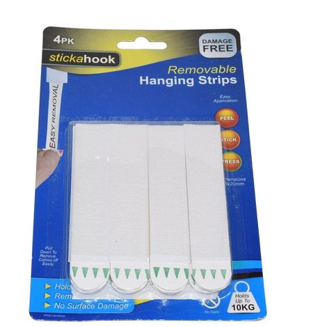 Self Adhesive Easy Application Removable 10 KG Hanging Strips 4 Pack