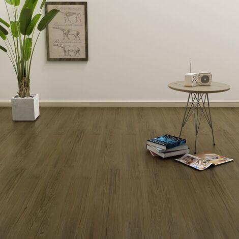 Self-adhesive Flooring Planks 4.46 m² 3 mm PVC Brown