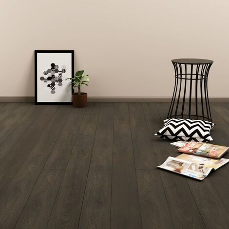 Self-adhesive Flooring Planks 4.46 m² 3 mm PVC Dark Brown
