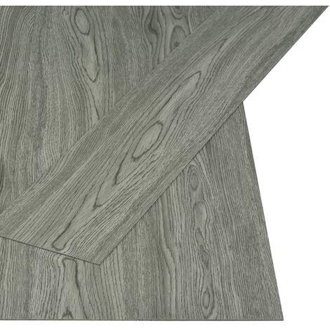 Self-adhesive Flooring Planks 4.46 m² 3 mm PVC Grey