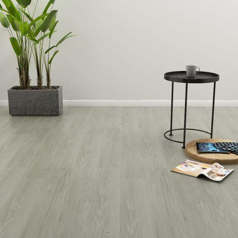 "main image of ""Self-adhesive Flooring Planks 4.46 m2 3 mm PVC Grey"""