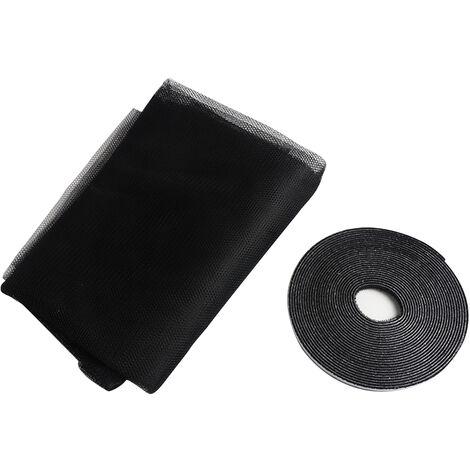 "main image of ""Self-adhesive mosquito screen / gauze mesh with Velcro, black"""