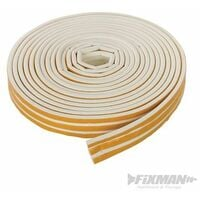 Self-Adhesive P-Profile Weather Strip - 3 - 5mm / 15m White (531740)