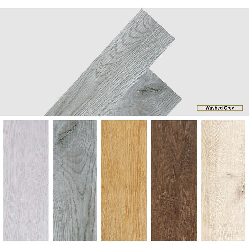 Image of Easyfloor - Self adhesive PVC Floor Planks Tiles Washed Grey